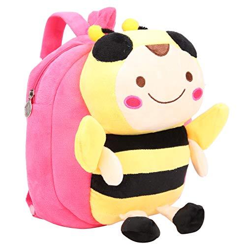 Toddler Bag, Smooth Toddler Backpack, Super Soft for Babies Toddlers(Rose Red)