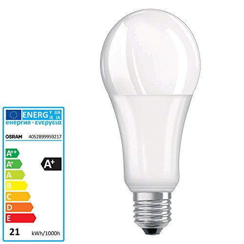 Osram Parathom Advanced Classic A 150 Dimmable Bombilla Led 220-240v 21w 2700k e27. Equivale a 150w.