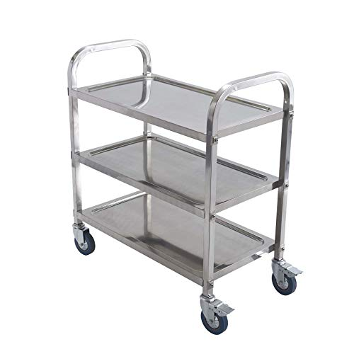Stainless Steel 3-Level Trolley - 30