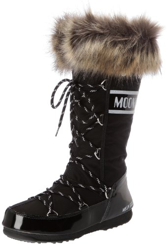 Moon Boot Damen W.E. Monaco Stiefel, Schwarz (Nero), 39 EU