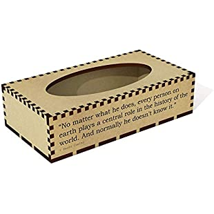 Long 'No matter what he does, every person on earth plays a central role in the history of the world. And normally he doesn't know it.' Quote by Paulo Coelho Wooden Tissue Box Cover (TB00002071)