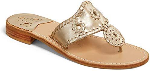 Jack Rogers Women's Hamptons Sandal, Platinum, 8.5 M US