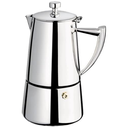 Cuisinox Roma 10-cup Stainless Steel Stovetop Moka Espresso Maker, Stainless steel
