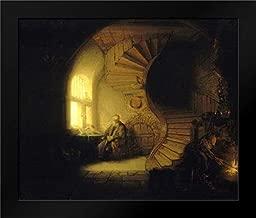 Philosopher in Meditation Framed Art Print by Van Rijn, Rembrandt