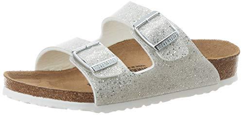 BIRKENSTOCK Mädchen Arizona Birko-Flor Cosmic Sparkle White Sandale, 28 EU Étroit