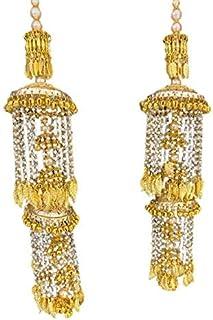 Din Shagna Da Traditional Punjabi Golden kaleere For Women/Kaleera/Kalera/Bridal Hand Hanging/kaleera for Brides/Girls/Women