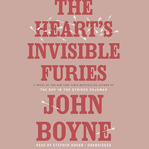 The Heart's Invisible Furies                   Written by:                                                                                                                                 John Boyne                               Narrated by:                                                                                                                                 Stephen Hogan                      Length: 21 hrs and 19 mins     77 ratings     Overall 4.8