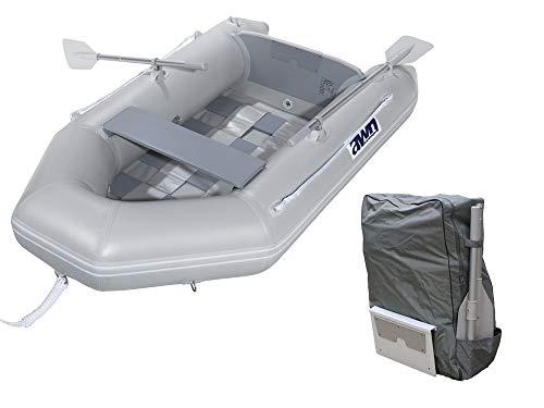 AWN opblaasbare boot, draagbaar, met rugzak, riem, vouwbare spiegel, peddelboot, 2,24 m lang, 24 kg, 2 personen