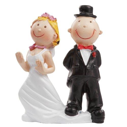 Hochzeit Hochzeitspaar * Brautpaar Bräutigam auf Kleid * Tortendekoration Tortenfigur