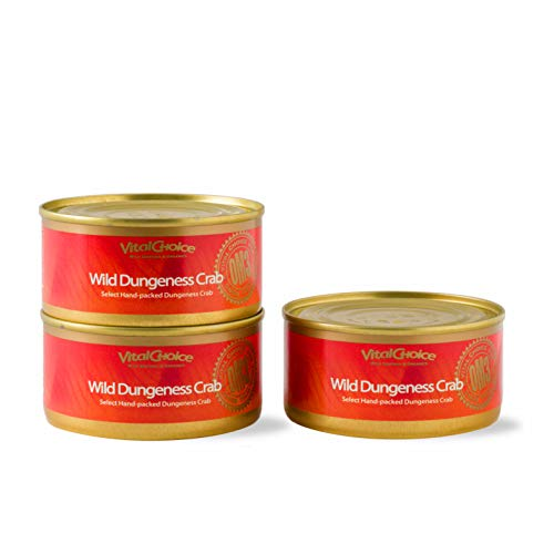 Vital Choice Wild Dungeness Crab, 6 oz Cans