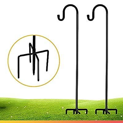 Shepherd-Hooks for Bird-Feeder Lantern Plant-Hook Garden-Stake - 35 Inch 2 Pack Plant Stand Hanger for Outdoor Flower Basket, Bird Feeder Hanger Weddings Decor