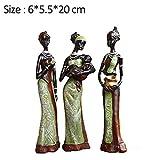 YUQZYT Resina Estatuas3 Unids/Set Sala De Estar Exótica Muñeca Escultura Artesanías De Resina Hogar Nueva Casa Decoración Tienda Ventana Exhibición Ornamento Crsfts