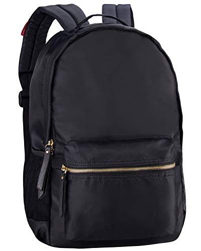 HawLander Casual Backpack for Women Daypack for Everyday, Lightweight, Classic,Black