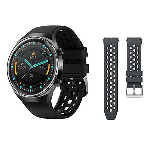 KMF SmartWatch 2021 es Adecuado para Android Bluetooth Call Smart Watch Men's Ipx7 Impermeable 30 días en Espera Tasa del corazón a la presión Arterial Fitness,D