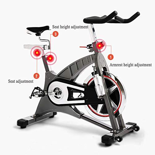 NXX Bicicleta Indoor Bicicleta Estática Profesional Volante De Inercia 20Kg, Asiento Cómodo, Pulsometro, Sistema De Transmisión por Correa