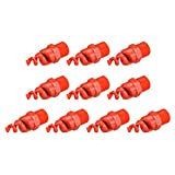 uxcell Spiral Cone Atomization Nozzle, 1/2BSPF PP Sprinkler, 10 Pcs