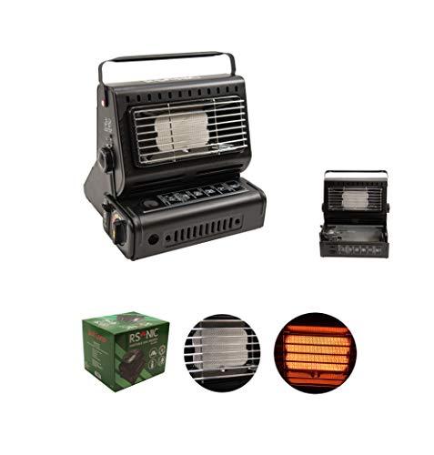 RSonic - Calentador de Gas portátil (1,3 kW, para Exteriores, Camping, Pesca, Mini Calefactor)