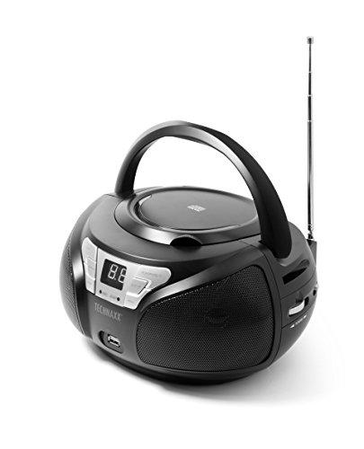Technaxx 4762 Portable Boombox BT-X38 mit Bluetooth UKW Radio CD Player MP3 schwarz