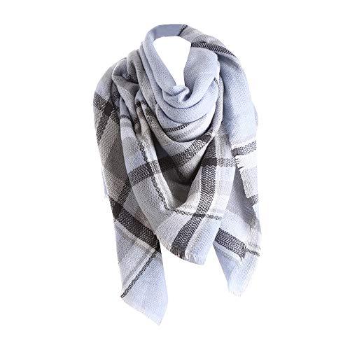 Damen Schal Plaid Warme Wolle Cape Weiche Karierte Lange Scarf Tartan Fringe Square Poncho Winter Herbst Shawl Decke 140x140cm