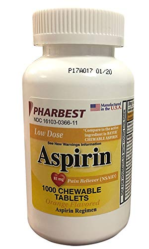 10 best chewable aspirin 81mg 1000 count for 2020