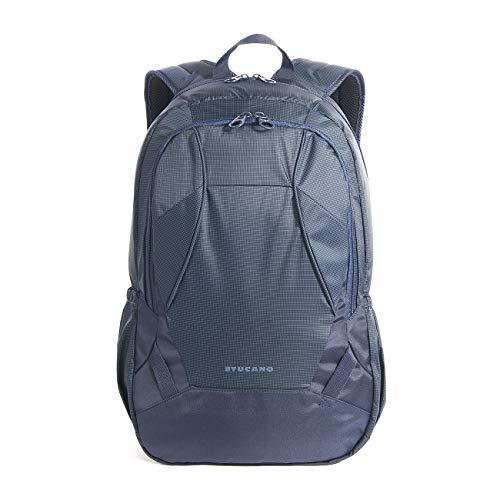 Tucano - Doppio Zaino Notebook 15.6' Pollici, Compatibile con MacBook PRO 16', Tasca Powerbank/Smartphone, Ideale per Sport, Lavoro,Viaggio, Blu