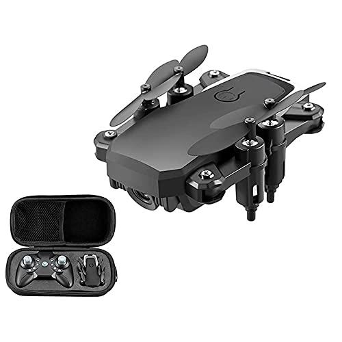 GZTYLQQ Mini dron 4k RC con cámara, helicóptero cuadricóptero para niños y Principiantes, retención de altitud, Modo sin Cabeza, volteo 3D, Video en Vivo FPV, Control WiFi, Negro