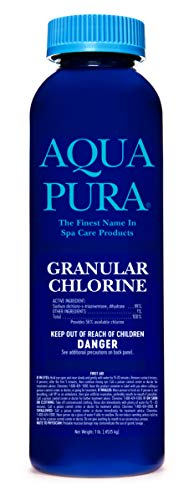 AQUA PURA Chlorine granular for spas, hot tubs and Pools, 1 Pound Efficiency Size