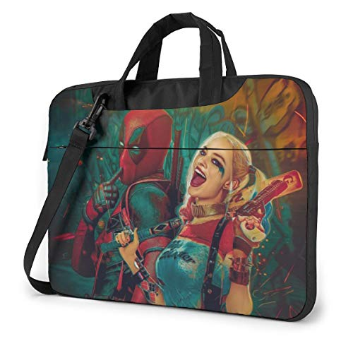 Dead_Pool Harley Quinn Laptop Sleeve Bag Case 15.6 inch MacBook Air Pro Notebook Sleeve Case Portable Briefcase Tote