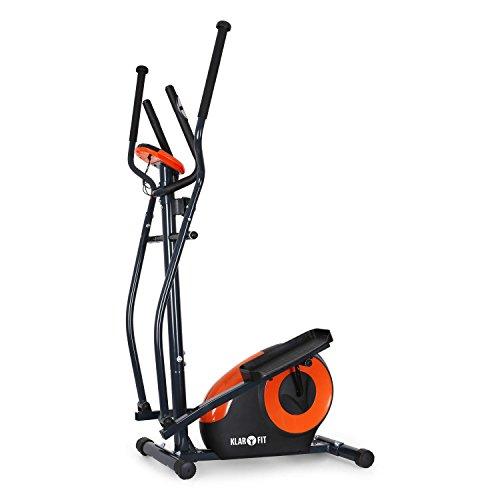 Klarfit Ellifit FX 250 – Nordic Walking Ellipsentrainer, Crosstrainer, Handpulsmesser, Trainingscomputer, 8 Stufen Widerstand, für Personen mit einem Gewicht bis 110kg, schwarz-orange - 7