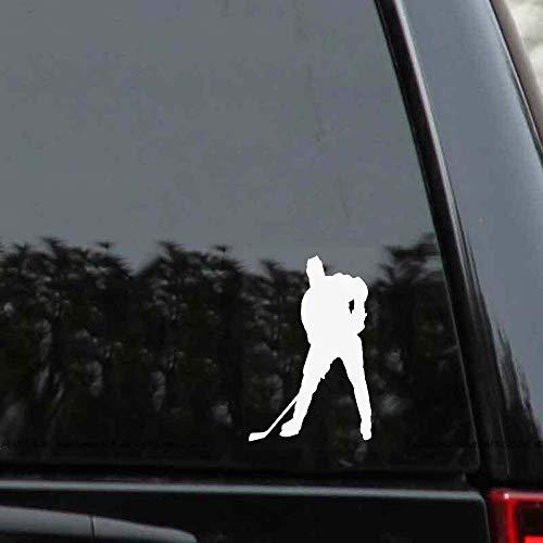 Dkisee Young Man Bending Over To Practice Hockey Auto-Aufkleber, 15,2 cm Vinyl-Aufkleber, trendiger Hipster-Aufkleber für LKW, Stoßstange, Fenster, Laptop, Spiegel, Wände