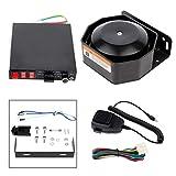 SCITOO Car Warning Alarm Siren PA Speaker MIC Horn System12V 105db, 200W,MULTIPLE OPERATION MODES,121-130dB Easy to Install, for Car Boat Van Truck