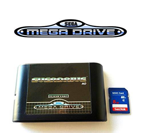 Everdrive Sega Megadrive MD Genesis Flash Cart Mega Drive + 8 GB SD-Karte Sega Megadrive System