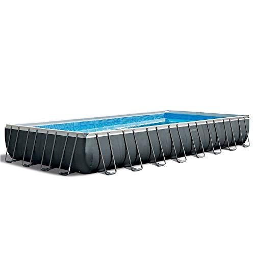 "Intex 32' x 16' x 52"" Rectangular Ultra XTR Frame Outdoor Above Ground Swimming Pool"