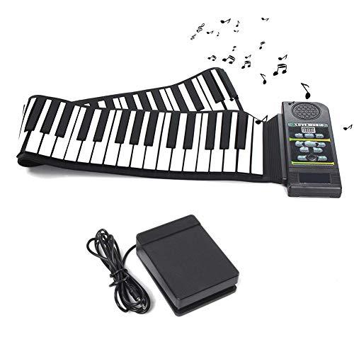 Donteec 88 teclas pueden enrollar el piano, Piano digital para niños Instrumento de estudiante con teclado plegable de silicona para principiantes Teclado digital Piano portátil
