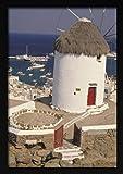 ndegdgswg Bricolaje Pintura al óleo Paisaje de la Ciudad Griega Atenas Santorini Mar Egeo Corfú Estilo arquitectónico