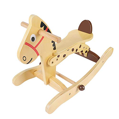 Cheapest Price! YUMEIGE Rocking Ride-Ons Wooden Rocking Horse,Solid Wood、 Horse、Animal Riding ...