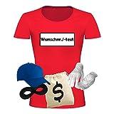 T-Shirt Panzerknacker Kostüm-Set Wunschnummer Cap Maske Karneval Damen XS - 3XL Fasching JGA...