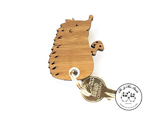 Mr. & Mrs. Panda Anhänger, Glücksbringer, Schlüsselanhänger Igel mit Pilz - Farbe