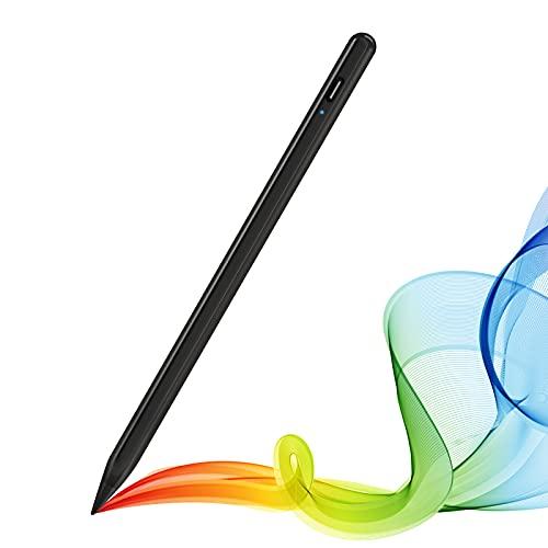 Stylus Pen für iPad, Tablet Touchscreen Stift mit Palm Rejection, Feiner Spitze und Magnetische Pencil für iPad/Pro/Mini/Air 2018-2020 - Schwarz