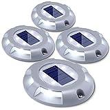 Techonor Lot de 4 lampes solaires LED IP67 étanches pour extérieur