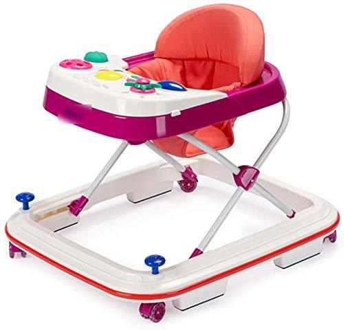 YIJIN Nuevo Andador para Bebés 8 Barras Anticaída Multifuncional Antivuelco Antivuelco Andador para Bebés Masculino y Femenino Actividad Plegable,B