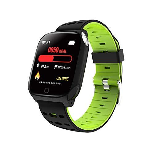TIANYOU Smart Watch, Pantalla de Color Grande de 1.3 Pulgadas, Recordatorio de Llamadas, Paso de Ejercicio Y Rastreador de Fitness, para Android Y Ios. Regalo de vacaciones/Verde negro