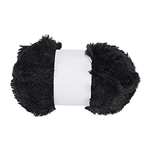 WANDIC Faux bont garen, 1 rol breien ambacht polyester fuzzy bont garen voor trui sjaal sjaal sjaal hoed