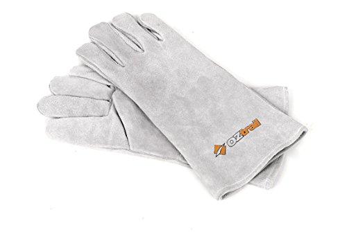 OZtrail Gant de Cuir OCIA-GLL-D Leather Glove Set - Barbecue Gants - Gants de Protection