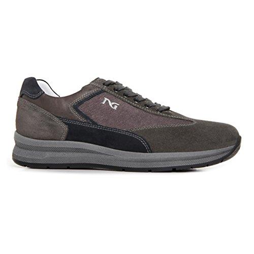 Nero Giardini uomo sneakers grigio A705251U scarpe in pelle inverno 2018, eu 44