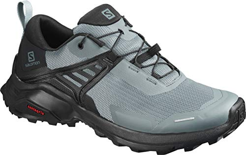 Salomon Women's Hiking Shoe, stormy weather/Black/Lead,7.5 B (M)