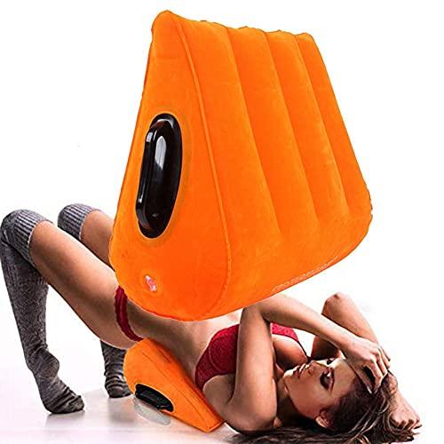 Almohada Inflable Naranja, Muebles multifuncionales, cojín triángulo Fuerte, Suave y cómodo para Mejorar la posición de la Almohada en Forma de cuña
