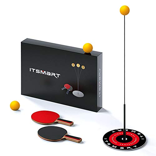 Best Buy! Table Tennis Trainer with Elastic Soft Shaft 1.1M Leisure Decompression Sports 2 Table Ten...