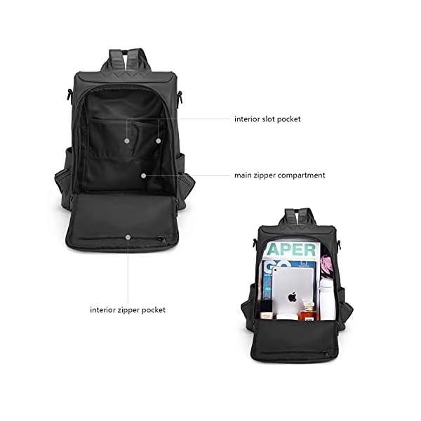 BROMEN Backpack Purse for Women Leather Anti-theft Travel Backpack Fashion Shoulder Bag 4