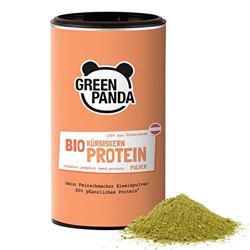 Proteine di semi di zucca bio con il 59% di proteine vegetali, semi di zucca tostate e macinate, testate e certificate in laboratorio, ideale come polvere proteica vegane, 225 g